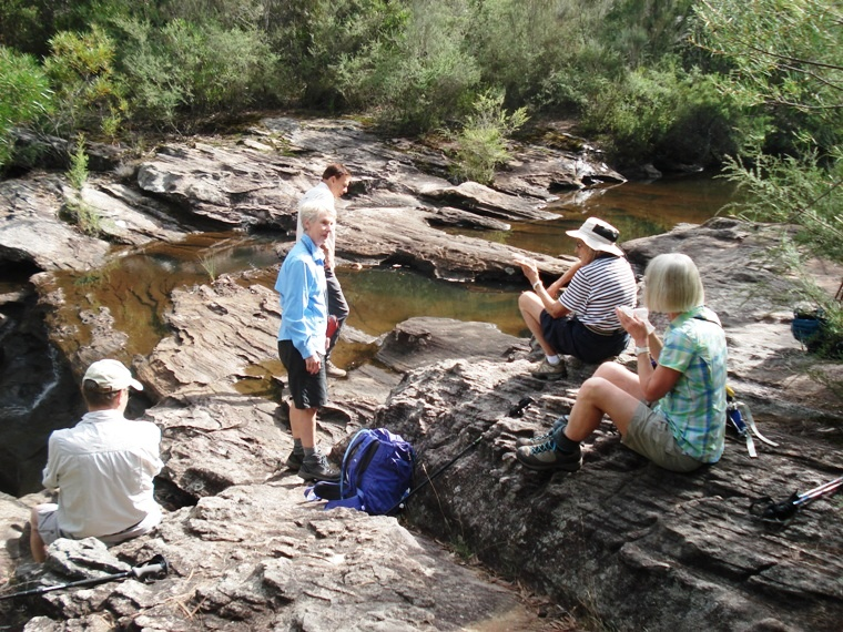 2019 03 29 PlusWalk Drina Morning tea near Kingfisher Pool